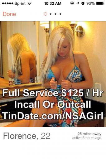 Tinder escort